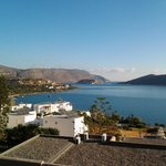 view of Spinalonga from our balcony