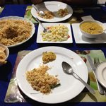 Late dinner fried rice n nice curry!
