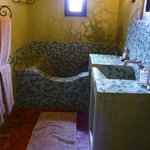 Tiled bath and basin