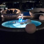 The pool area on chill out night