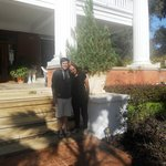 Me with my partner Jason, Herlong Mansion, 2013
