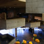 Berkeley Art Museum: concrete galleries