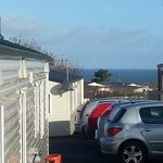 This is the view from 80 Rowan Close which was the caravan we stayed in