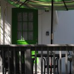 Green Cottage Door/Deck