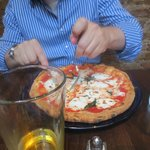 The classic Margherita pizza at Don Antonio