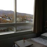 View from our room in Icelandair Hotel Akureyri