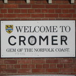 Cromer Train Depot sign (Morrison's market to the left)