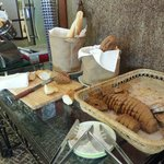Breakfast - bread table