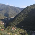 View from the small balcony to Pigna