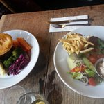 chicken kiev & steak and ale pie :)