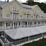 Rhinecliff Hotel from top of train walkway
