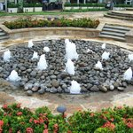 bubbling fountains in rocks