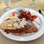 stuffed french toast and bacon