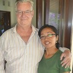 The proprietor of Kebun Impian Wayan with husband John