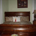 The king size sleigh bed in one room
