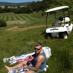 Great views, golf buggy