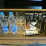 bathroom amenities and free water