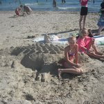 our crocodile the kids made on beach :-)