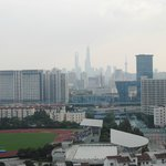 view over Pudong from window of room 1501