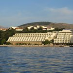 The hotel seen from the sea