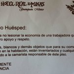 Advertencia de cobro a recamaristas si algo se pierde