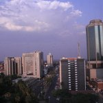 Harare skyline from the room..
