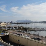 View across Olbia harbour from room at the front