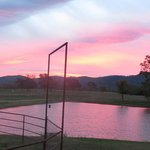 The sunrise this morning at the Ranch!!  The pinks and purples were amazing!!