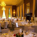 The magnificent Ben Wyvis Hotel dining room set for our wedding dinner 12th October 2013