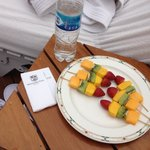 Poolside fruit skewers