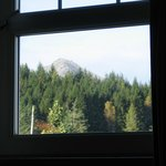 The view of Goat Fell from room 212