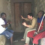 Negotiating with the lads in Lamu town