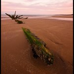 Shipwreck at Seton Sands, shot at Sunrise