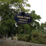 Sign at Aaron Court