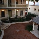 Hotel Faust courtyard and gazebo