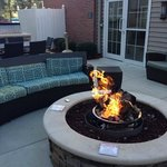 Fire pit in the courtyard area of the hotel