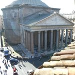 The Pantheon from our window on the 4th floor Hotel Abruzzi