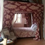 our beautiful four poster bed