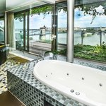 Panorama suite overlooking the Danube