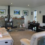 The warm living room where we enjoyed a lovely chat with Phil and Barbara