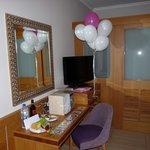 Our suite decorated on arrival for our special occasions