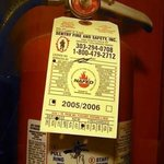 The fire extinguishers haven't been serviced in quite some time!