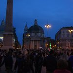 Piazza del Popolo at night