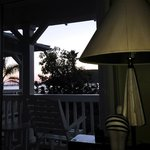 Sunset and quirky furniture at Avila Lighthouse Suites