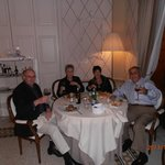 Dining with friends from Montecatini Terme in Hotel's restaurant