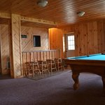 Pool Table and bar on lower level