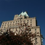 Hotel Vancouver on a specular October day