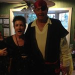Flapper and ugly pirate