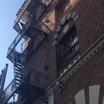 the fire escape, so cool