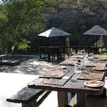 Dining Deck at Zenzele River Lodge near Pretoria